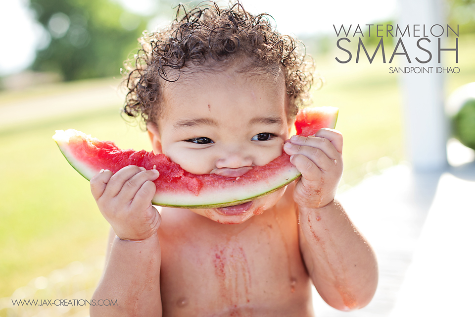 watermelon smash sessions, jax creations photography, sandpoint Id, beach, lake