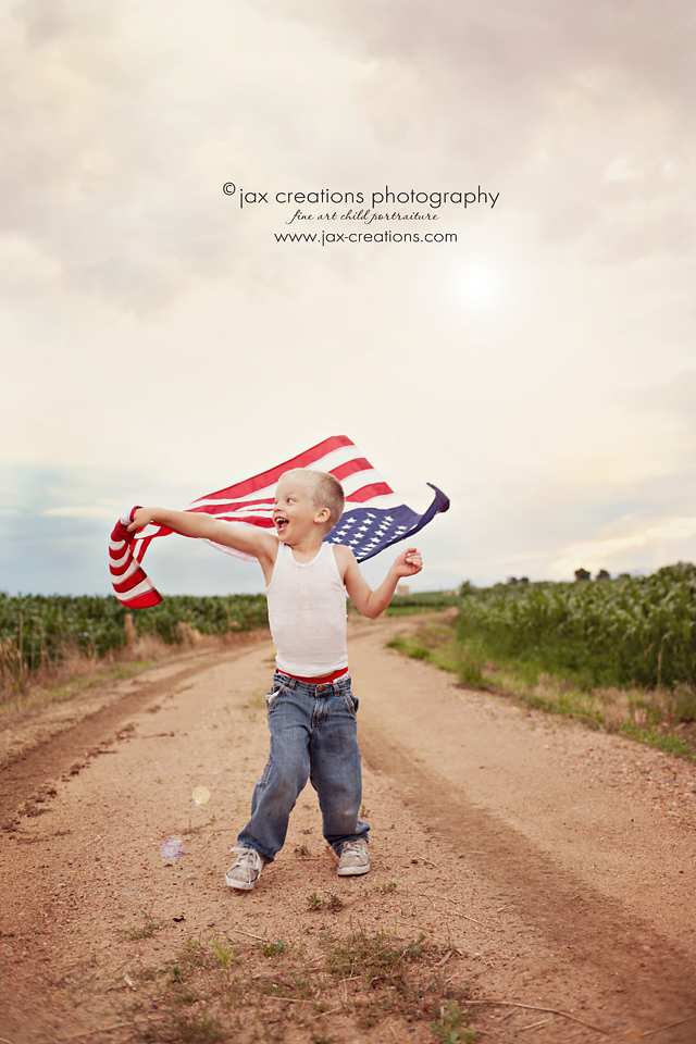 Jax Creations Photography, Sandpoint Idaho, July, Flag