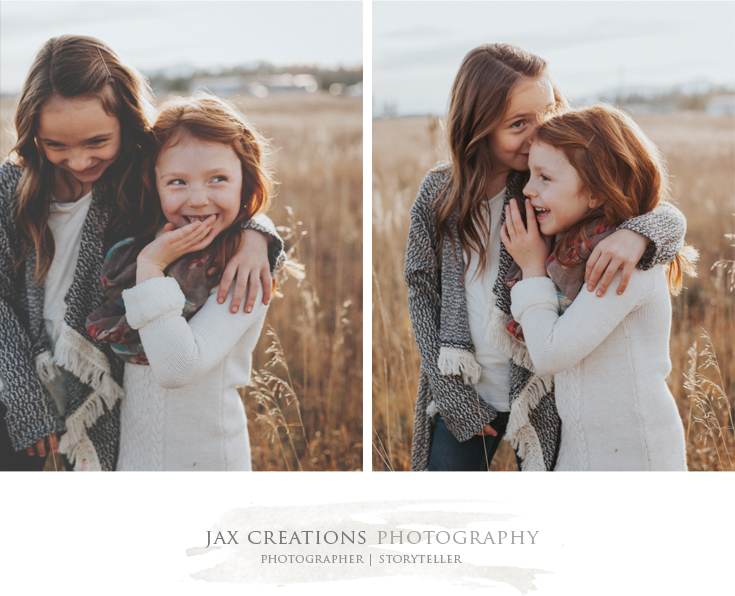 jax creations photography, sisters, family photography, coeurdalene idaho, coeurdalene photographer