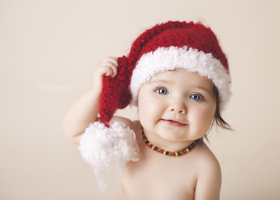 Jax creations photography, christmas, baby, santa baby, coeur d alene idaho, cda baby photographer