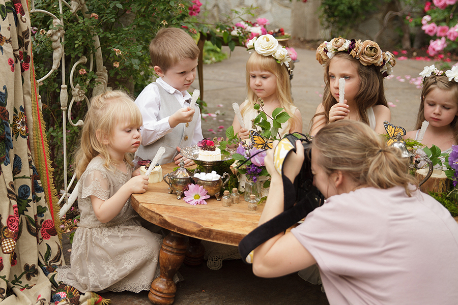Jax Creations Photography, Amy Henderson Photography, Sandpoint idaho, children party, princess, unicorn, healing garden