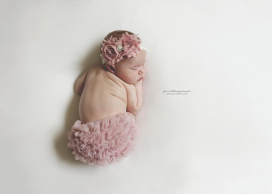 Jax Creations Photography, baby photographer, newborn, coeur d'alene idaho, cda, baby, ruffles, pink