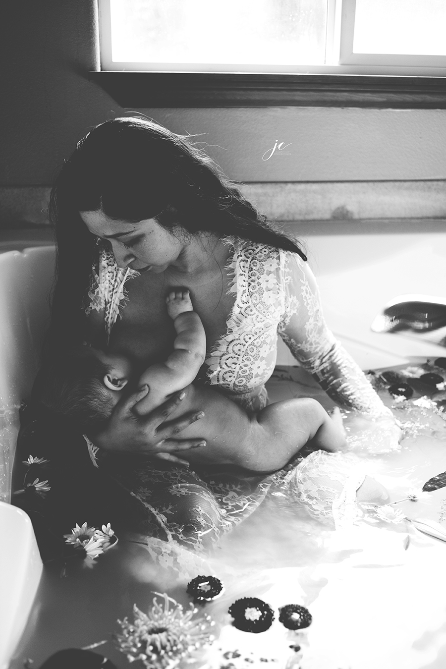 mommy & me, baby, milk bath, coeur d'alene photographer